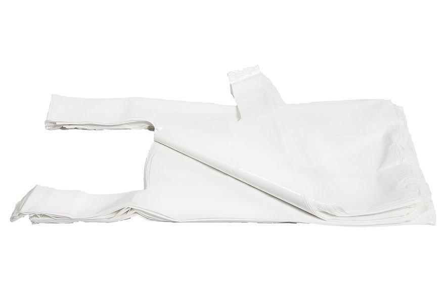 Muovikassi valkoinen 300x180x55mm 30L 100kpl