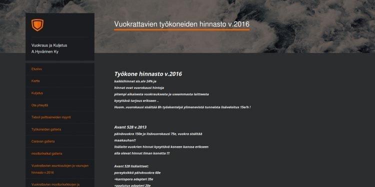 Kuljetusliike A. Hyvärinen Ky